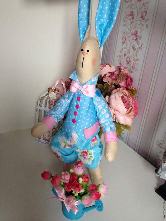 """Куклы Тильды ручной работы. Ярмарка Мастеров - ручная работа. Купить Текстильная игрушка в стиле Тильда """"Весенний Заяц Бенджамин"""". Handmade."""