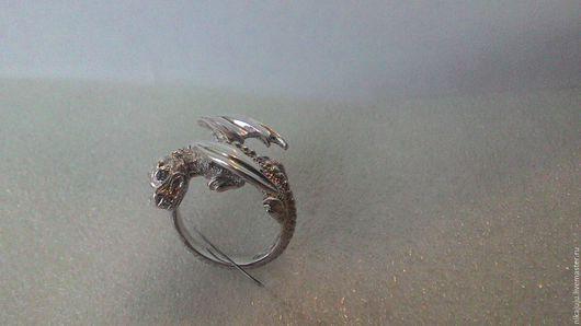 Кольца ручной работы. Ярмарка Мастеров - ручная работа. Купить кольцо-амулет Дракон. Handmade. Серебряный, дракон, ювелирное украшение