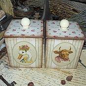 """Для дома и интерьера ручной работы. Ярмарка Мастеров - ручная работа """"Ma ferme"""" - набор из 2-х коробов. Handmade."""
