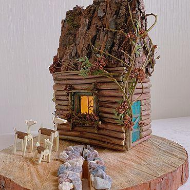 Для дома и интерьера ручной работы. Ярмарка Мастеров - ручная работа Поделка в школу и детский сад - домик осени. Handmade.