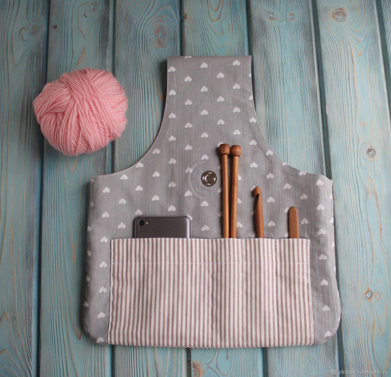 Проектная сумка для вязания с внутренними карманами. Клубочница, Органайзеры, Екатеринбург, Фото №1