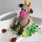 """Куклы и игрушки ручной работы. Ярмарка Мастеров - ручная работа Погремушка-игрушка """"Коровка"""".. Handmade."""