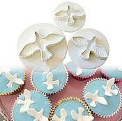 Материалы для творчества ручной работы. Ярмарка Мастеров - ручная работа Птицы (голуби)  - набор плунжеров - 3 штуки. Handmade.