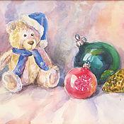 Картины и панно ручной работы. Ярмарка Мастеров - ручная работа Натюрморт с игрушками. Handmade.