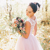 Свадебный салон ручной работы. Ярмарка Мастеров - ручная работа Свадебное платье на заказ. Handmade.