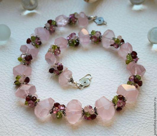 """Колье, бусы ручной работы. Ярмарка Мастеров - ручная работа. Купить Колье """"Сакура цветет"""". Handmade. Розовый, девушка, серебро"""