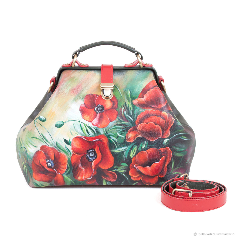 The average bag 'Poppies', Valise, St. Petersburg,  Фото №1
