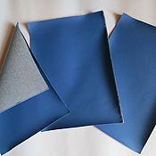 Материалы для творчества ручной работы. Ярмарка Мастеров - ручная работа листы экокожи №200 синий. Handmade.