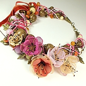 Украшения handmade. Livemaster - original item Dawn Rose. choker, removable floral decor. Handmade.