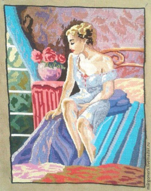 Фэнтези ручной работы. Ярмарка Мастеров - ручная работа. Купить Девушка на кровати. Handmade. Комбинированный, вышивка, Нитки, фэнтези, девушка