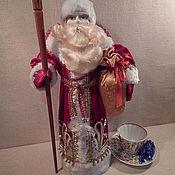Народная кукла ручной работы. Ярмарка Мастеров - ручная работа Новогодняя кукла Дед Мороз. Handmade.