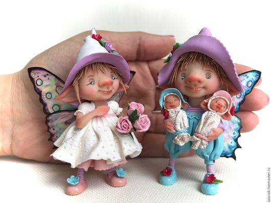Коллекционные куклы ручной работы. Ярмарка Мастеров - ручная работа. Купить Счастливая семья. Handmade. Комбинированный
