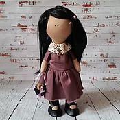 Куклы и игрушки ручной работы. Ярмарка Мастеров - ручная работа Милая брюнетка. Handmade.