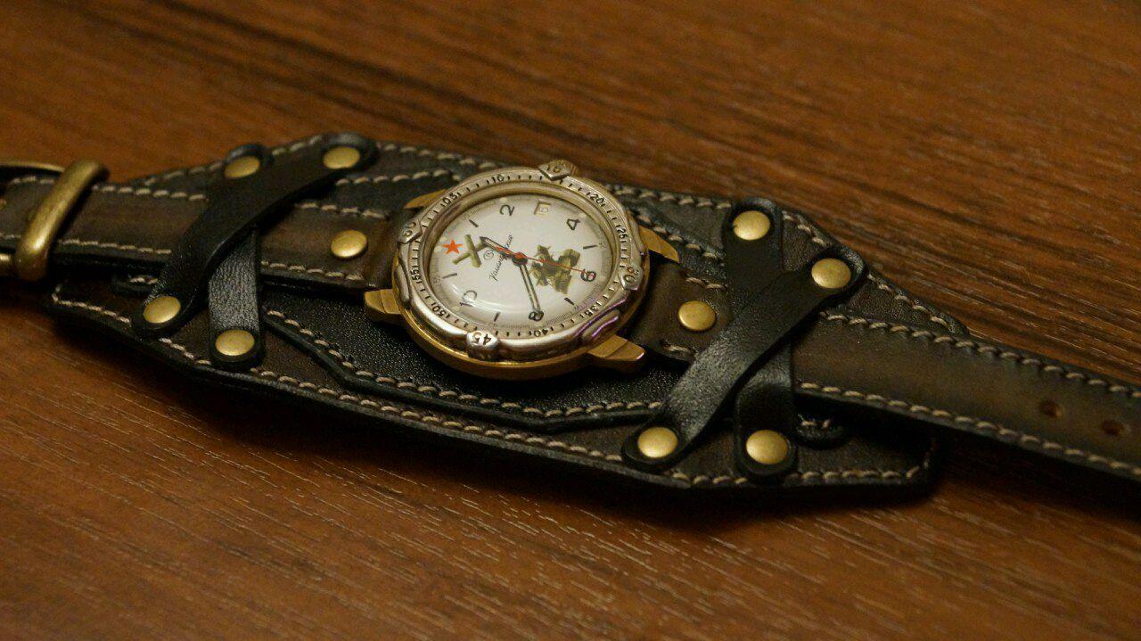 Сделать ремешок из кожи для часов своими руками