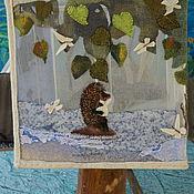 """Для дома и интерьера ручной работы. Ярмарка Мастеров - ручная работа настольная лампа """"Ежик в тумане"""". Handmade."""