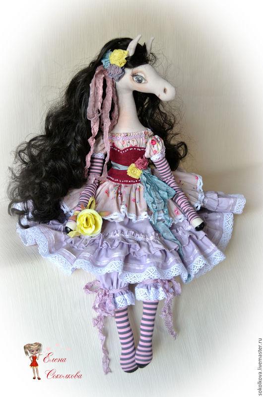 Коллекционные куклы ручной работы. Ярмарка Мастеров - ручная работа. Купить Мариса) Интерьерная кукла-лошадка.. Handmade. Кукла, бисер