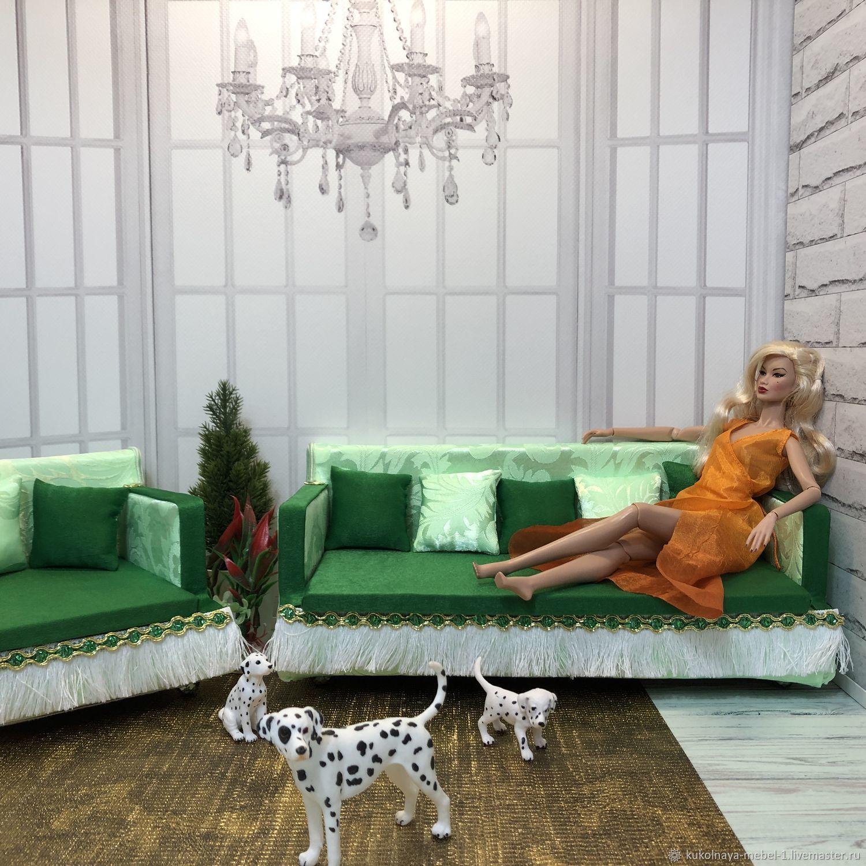 Диван и кресло, Мебель для кукол, Краснодар,  Фото №1