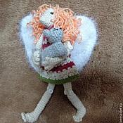 Куклы и игрушки ручной работы. Ярмарка Мастеров - ручная работа Вязаный ангел защиты кошек и собак. Handmade.