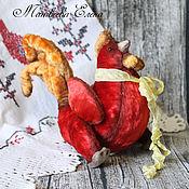 Подарки к праздникам ручной работы. Ярмарка Мастеров - ручная работа Тедди петушок Тимофей. Handmade.