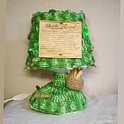 """Потолочные и подвесные светильники ручной работы. Ярмарка Мастеров - ручная работа Настольный вязаный светильник-лампа """"Дерево Желаний"""" - зелёный. Handmade."""