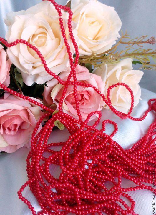 Для украшений ручной работы. Ярмарка Мастеров - ручная работа. Купить Бусины (3 мм) (темно-красный). Handmade. Бордовый