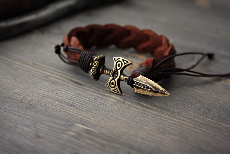 Leather Bracelet Sword Viking Shop Online On Livemaster With