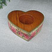 Свадебный салон handmade. Livemaster - original item Stand for rings heart wood. Handmade.