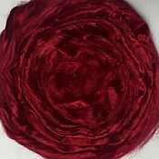 Fabric handmade. Livemaster - original item Viscose felting Wine 10 grams. Troitsk. Handmade.