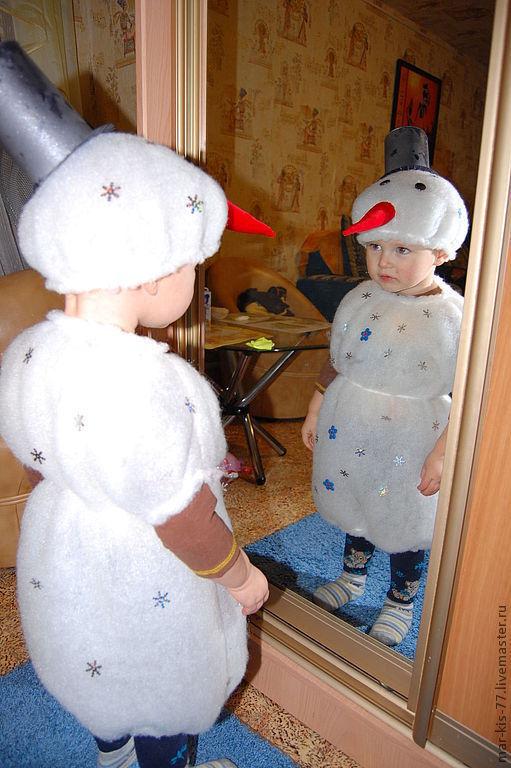 Детские карнавальные костюмы ручной работы. Ярмарка Мастеров - ручная работа. Купить Снеговичок. Handmade. Новый Год, снеговик, бархат