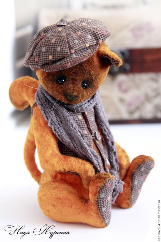 Мишки Тедди ручной работы. Ярмарка Мастеров - ручная работа. Купить Тедди кот Пьер. Handmade. Рыжий, тедди кот