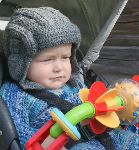 Шапки и шарфы ручной работы. Ярмарка Мастеров - ручная работа. Купить Шапка для маленького танкиста. Handmade. Серый, танкист