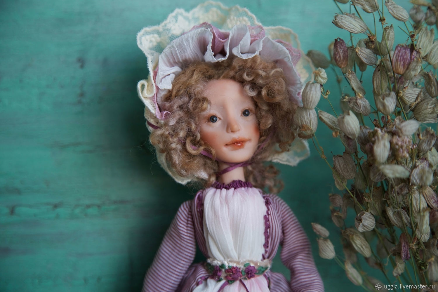 OOAK Art Doll totally hand made collectible art doll interior doll