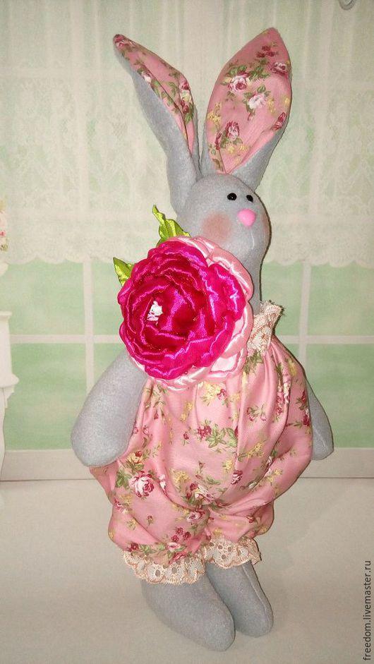 Игрушки животные, ручной работы. Ярмарка Мастеров - ручная работа. Купить Гламурный кролик (большой). Handmade. Комбинированный, ручная работа