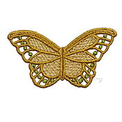 Материалы для творчества handmade. Livemaster - original item Embroidery applique butterfly antique lace openwork FSL free. Handmade.