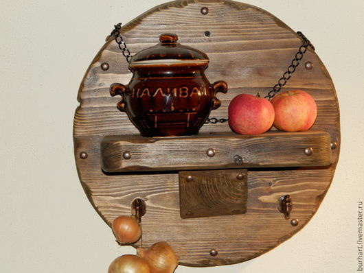Кухня ручной работы. Ярмарка Мастеров - ручная работа. Купить декоративная полочка. Handmade. Коричневый, декоративные элементы, для кухни, деревянная