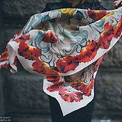 """Аксессуары handmade. Livemaster - original item Платок шелковый """"Грань"""". Handmade."""