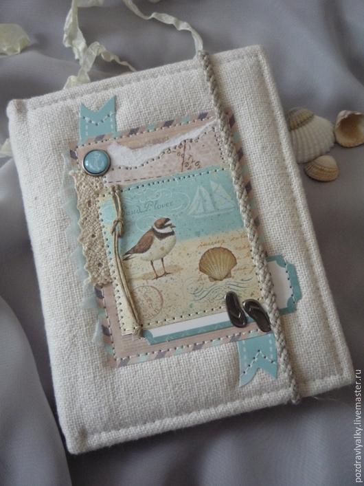 """Блокноты ручной работы. Ярмарка Мастеров - ручная работа. Купить Блокнот""""Средиземное море"""". Handmade. Блокнот ручной работы, Блокнот для женщины"""