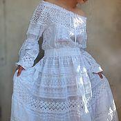 """Одежда ручной работы. Ярмарка Мастеров - ручная работа Бохо-платье """"Одетта"""". Handmade."""