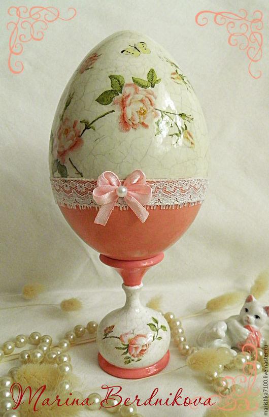 """Подарки на Пасху ручной работы. Ярмарка Мастеров - ручная работа. Купить Пасхальное яйцо """"Розы"""". Handmade. Розовый, пасхальный подарок"""