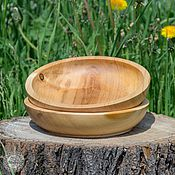 Для дома и интерьера handmade. Livemaster - original item Wooden Plate 22 cm (2#1. Handmade.