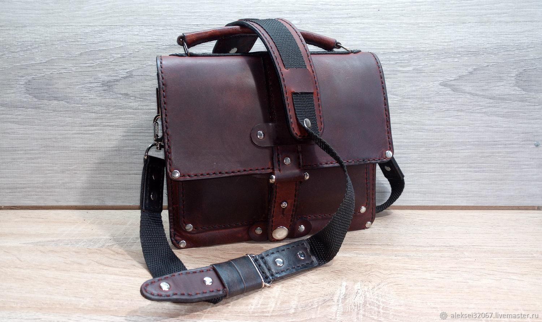 Bag leather shoulder, Crossbody bag, Smolensk,  Фото №1