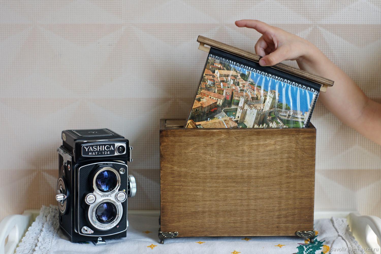 Деревянный Фотоальбом / шкатулка для фотографий из дерева, , Краснодар,  Фото №1
