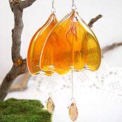Украшения handmade. Livemaster - original item Earrings with real Petals of Orange Flower-Eco Jewelry. Handmade.