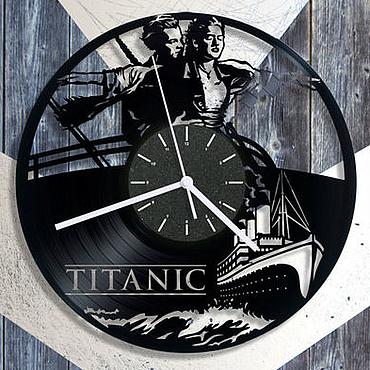 """Для дома и интерьера ручной работы. Ярмарка Мастеров - ручная работа Часы из пластинки """"Титаник"""". Handmade."""