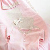 Комплекты одежды ручной работы. Ярмарка Мастеров - ручная работа Розовый Набор 100% Кашемировый 3 Изделия. Handmade.