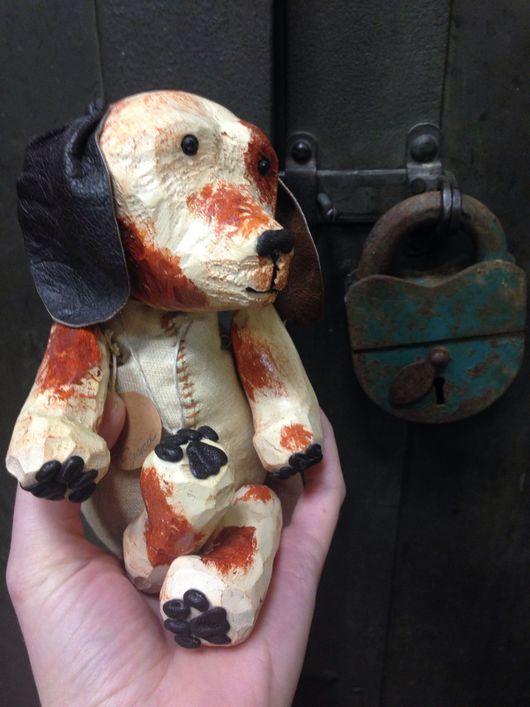 Игрушки животные, ручной работы. Ярмарка Мастеров - ручная работа. Купить Щенок Жужа деревянная игрушка ручная работа/ авторская кукла. Handmade.
