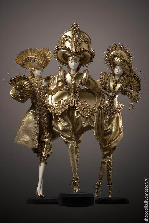Коллекционные куклы ручной работы. Ярмарка Мастеров - ручная работа. Купить Золотые Принцы. Handmade. Золотой, принц, баядерка, кавалер