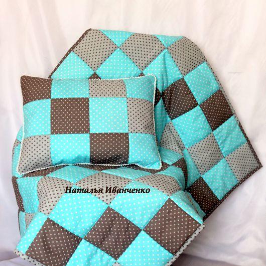 Пледы и одеяла ручной работы. Ярмарка Мастеров - ручная работа. Купить Детское лоскутное одеяло покрывало в кроватку. Handmade.