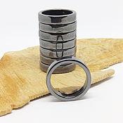 Украшения handmade. Livemaster - original item Ring Magnetic hematite 20.5. Handmade.