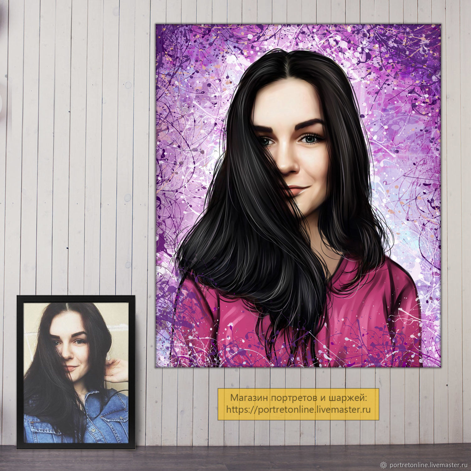a portrait from a photo. Gifts for women on birthday. Painting from the photo, Fine art photographs, Moscow,  Фото №1
